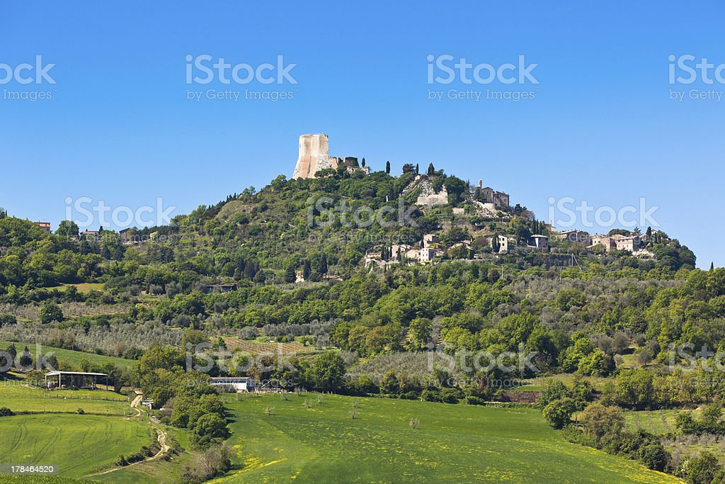 Castiglione d'Orcia town view, Tuscany, Italy stock photo