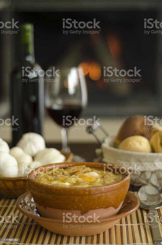 Castillane Soupe à l'ail photo libre de droits