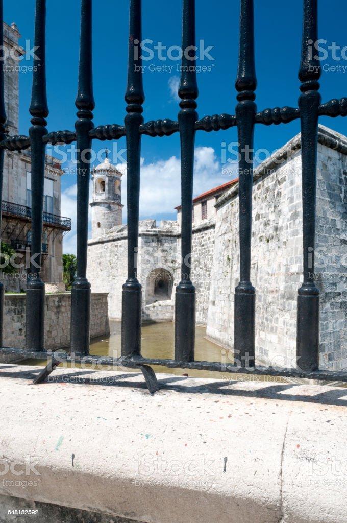 Castillo de la Real Fuerza-Castle of the Royal Force Havana stock photo
