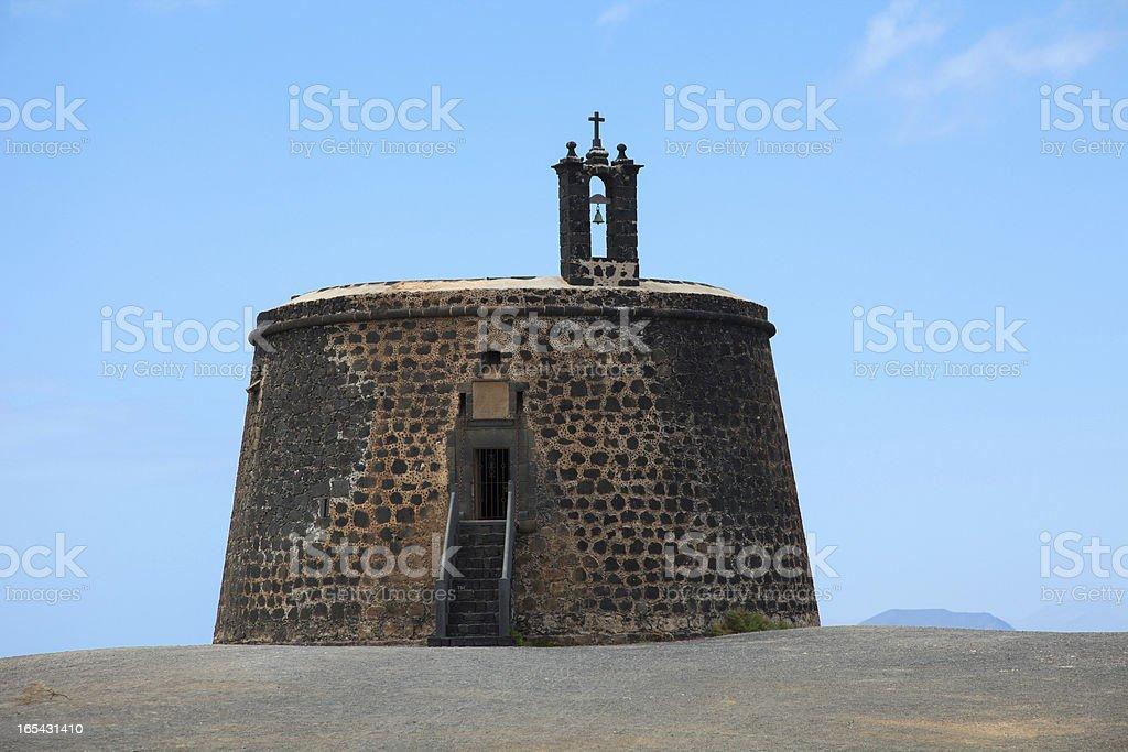 Castillo de Las Coloradas royalty-free stock photo