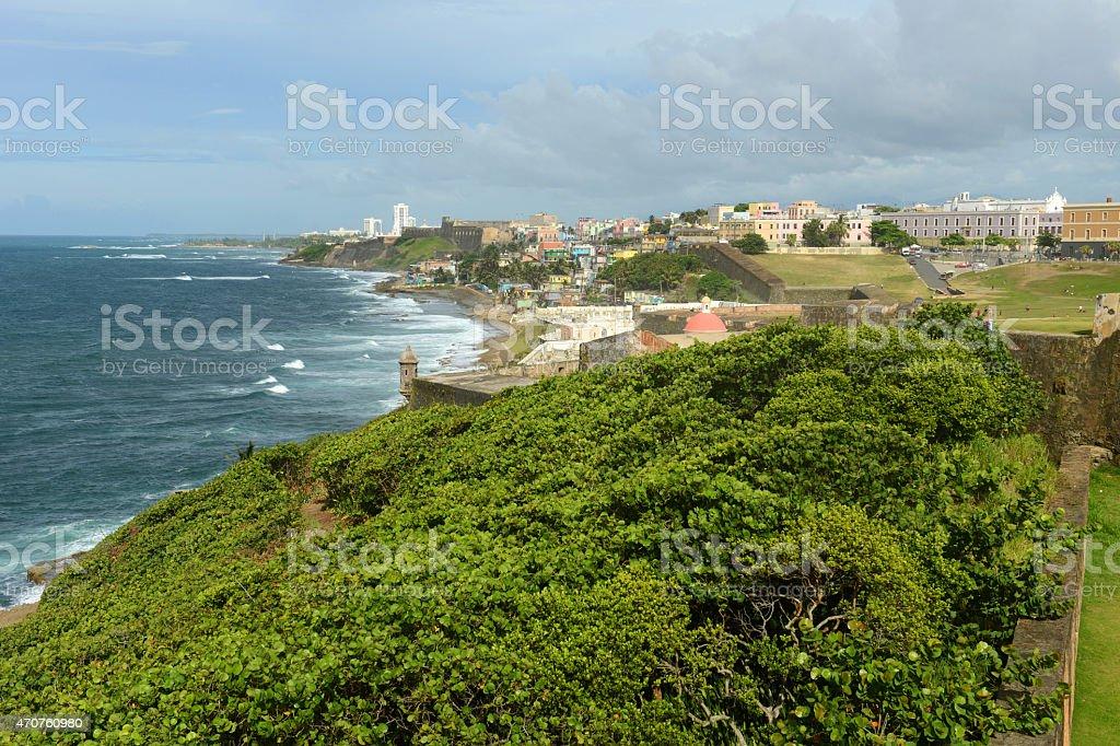 Castillo de San Cristobal, San Juan stock photo