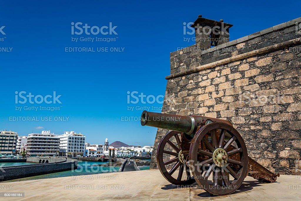 Castillo de San Gabriel - Saint Gabriel Castle, Arrecife, Lanzarote, Spain stock photo