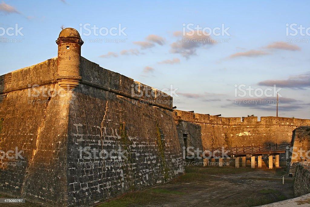 Castillo de San Marcos in St. Augustine, Florida, USA stock photo