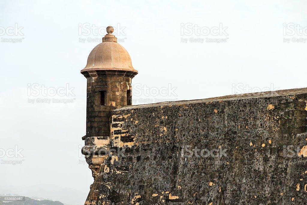 Castillo Del Morro guerite stock photo