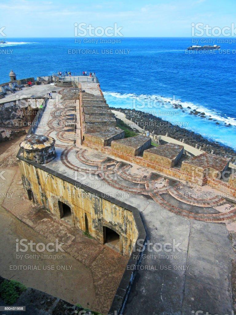 Castillo del Morro San Juan Puerto Rico stock photo