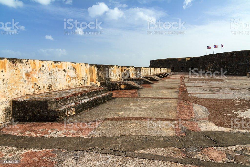 Castillo Morro San Juan stock photo