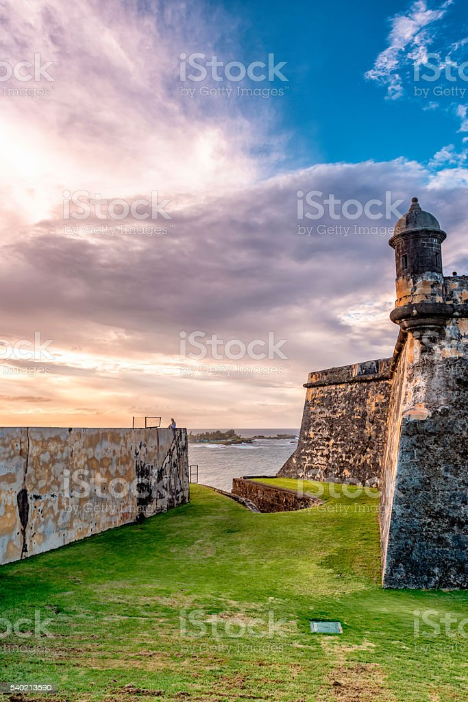 Castillo San Felipe del Morro at San Juan, Puerto Rico stock photo