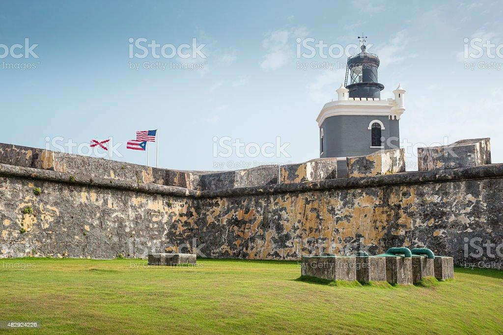 Castillo San Felipe del Morro in old San Juan stock photo