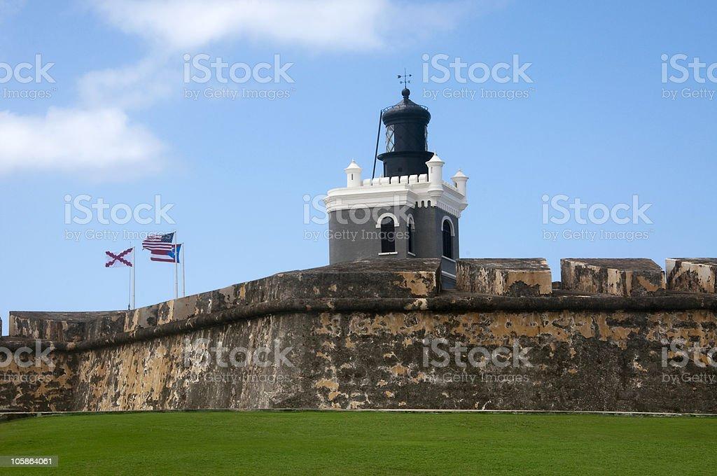 Castillo San Felipe del Morro in Puerto Rico stock photo