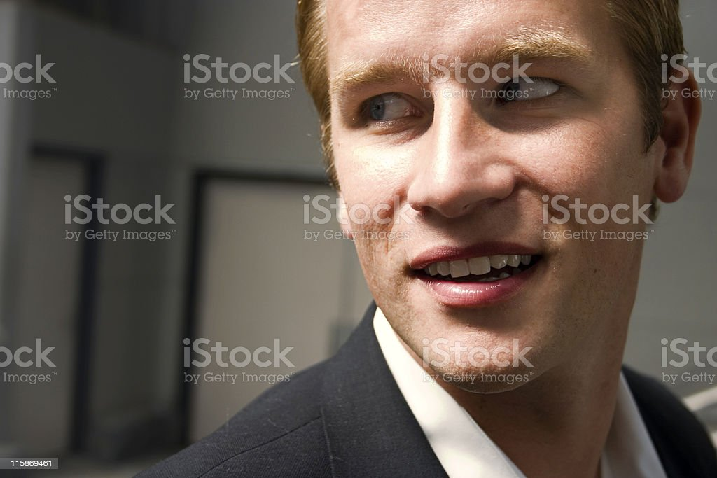 Casting a Glance royalty-free stock photo