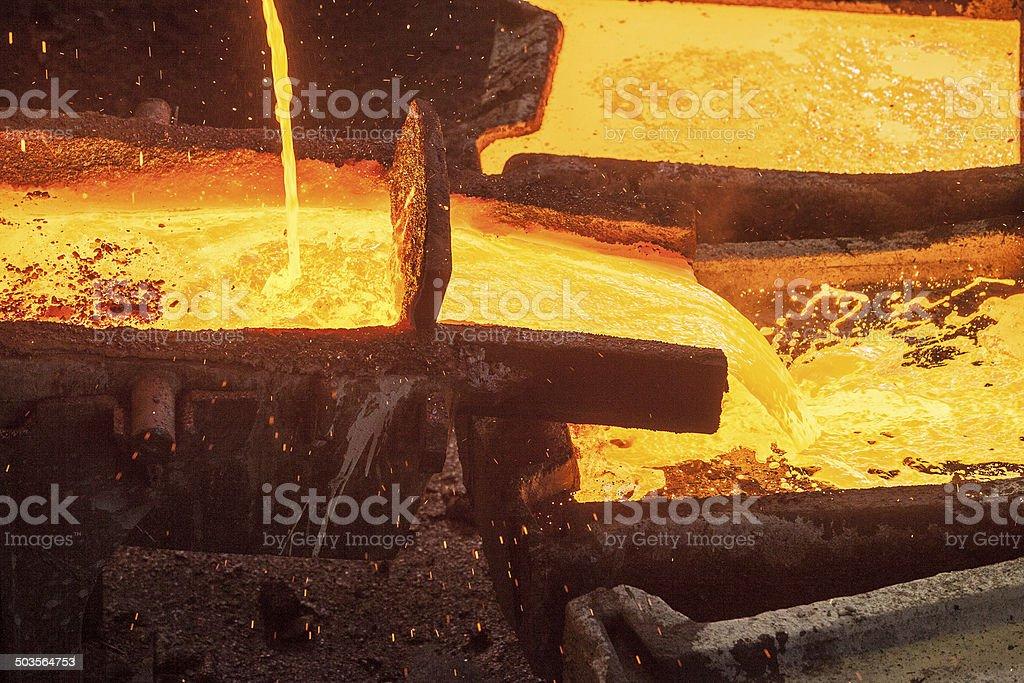 Casting copper stock photo