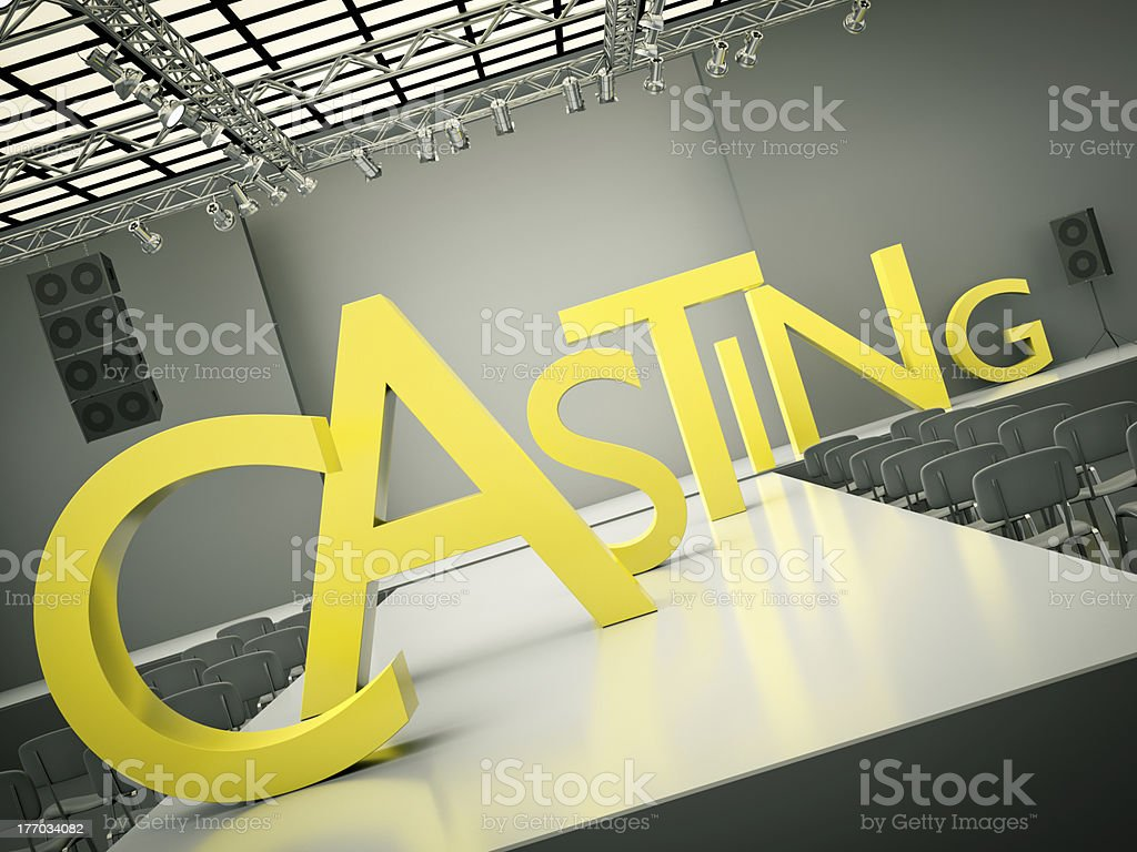 Casting stage abstract concept stock photo