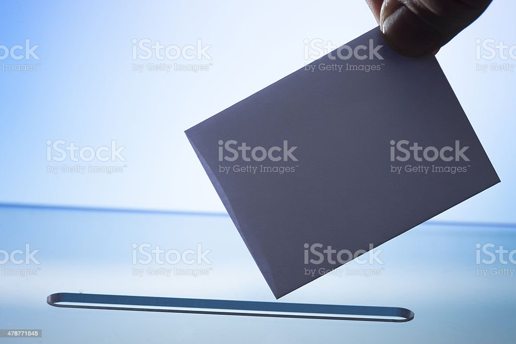 casting vote or posting letter stock photo