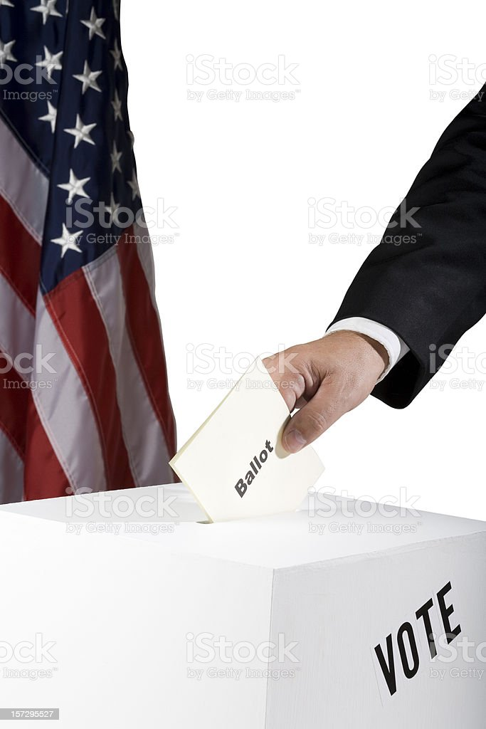 Casting vote royalty-free stock photo