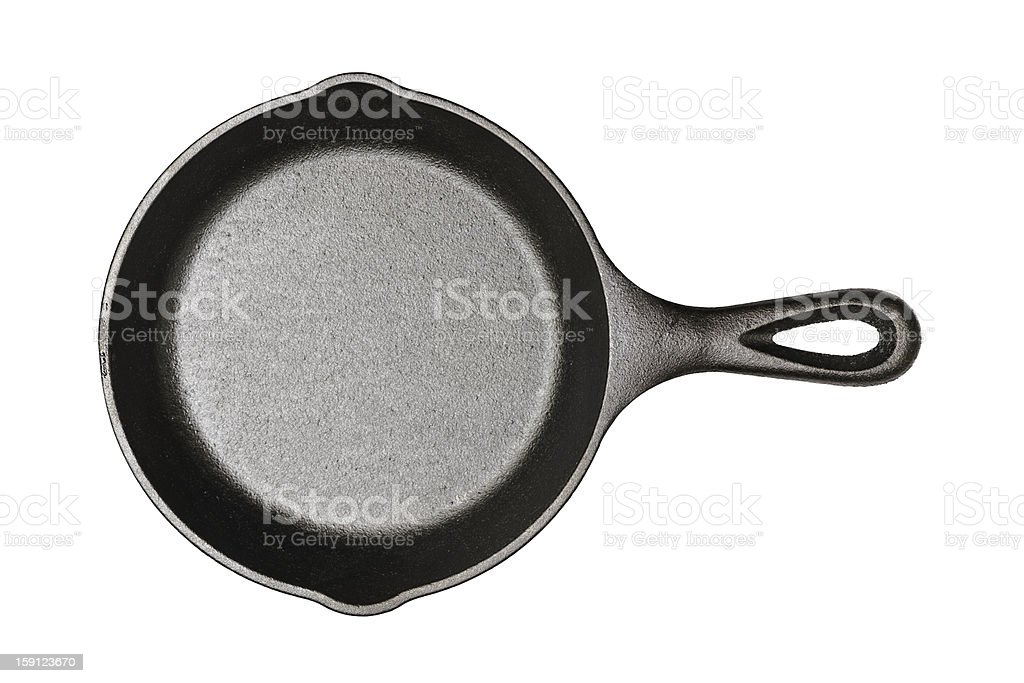 Cast-iron frying pan (Clipping path included) royalty-free stock photo