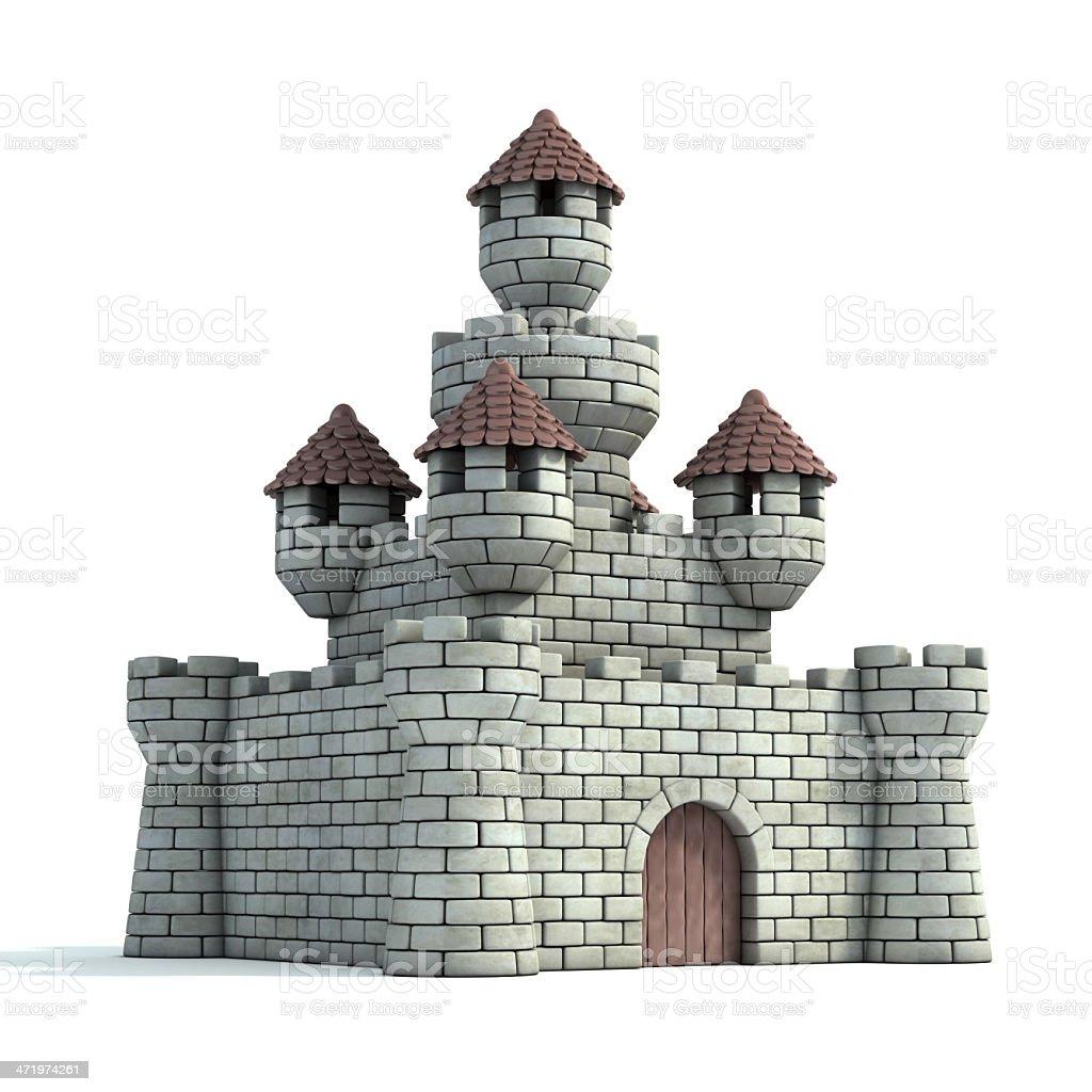 castle 3d illustration stock photo