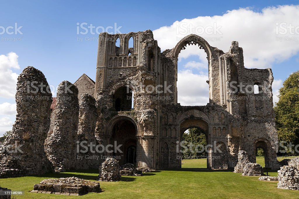 Castle Acre Priory - ruined interior royalty-free stock photo