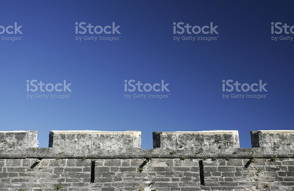 Castle and Blue Sky stock photo