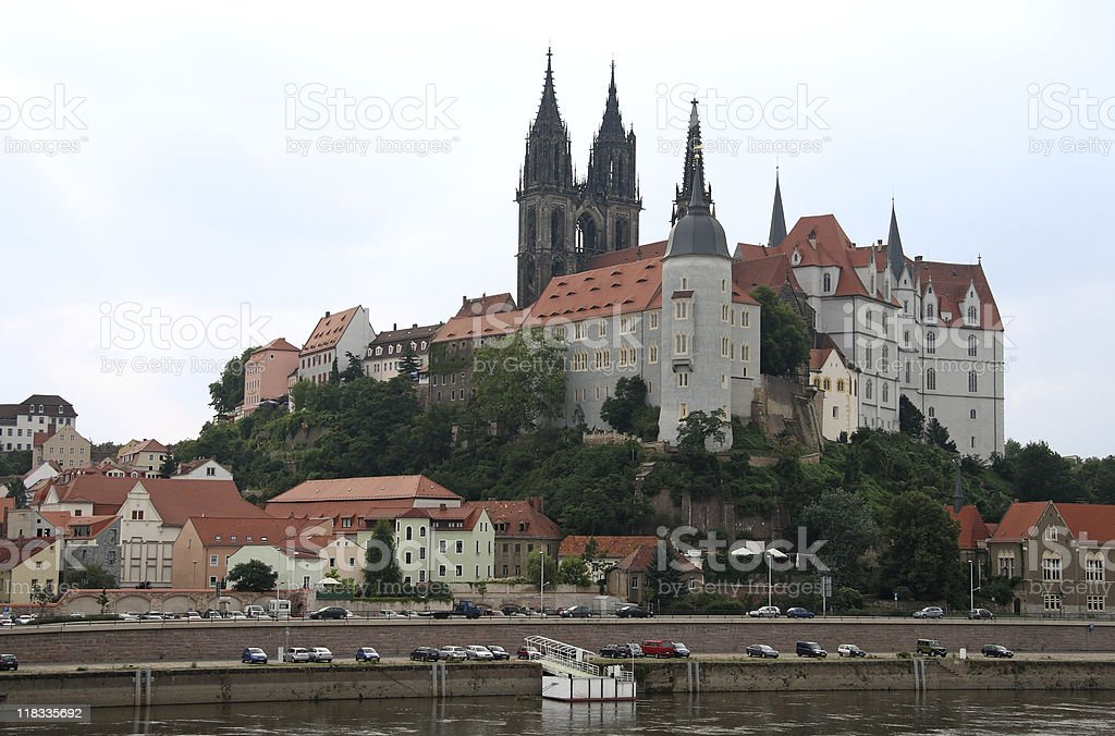 Castle and Church in Meissen,Germany royalty-free stock photo