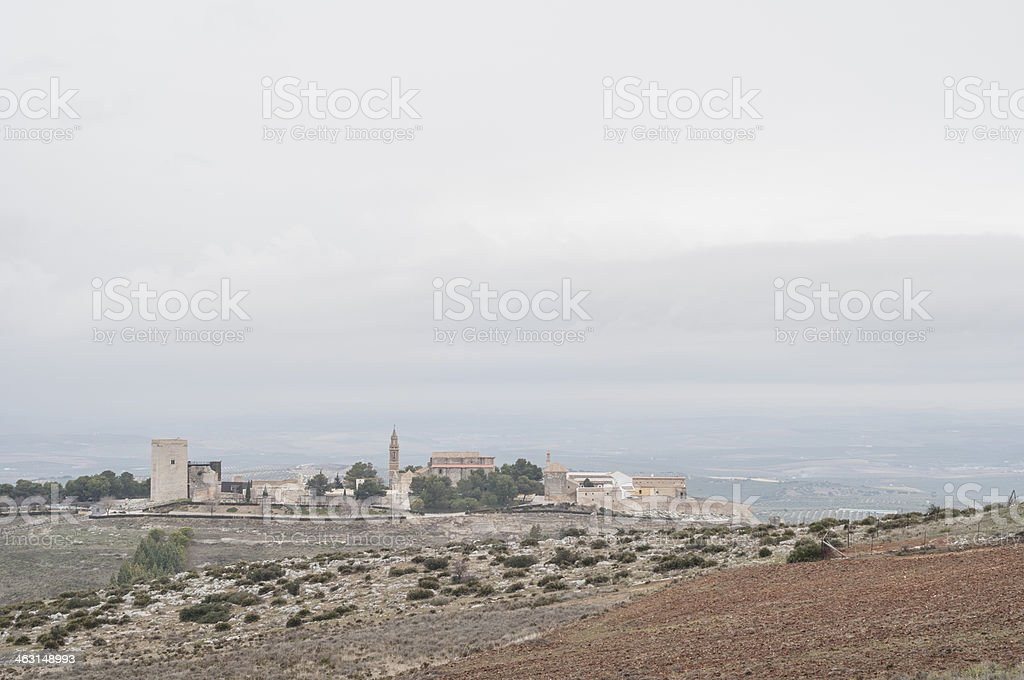 Castle and convent of Estepa, Sevilla, Spain stock photo