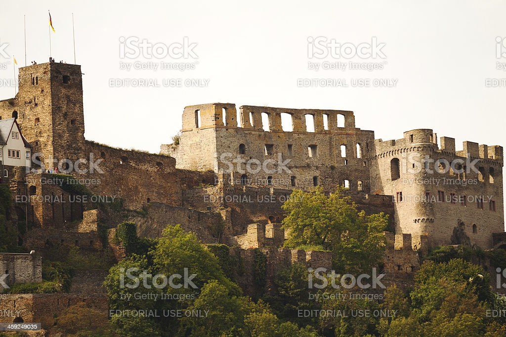 Castle and fortress Burg Rheinfels stock photo