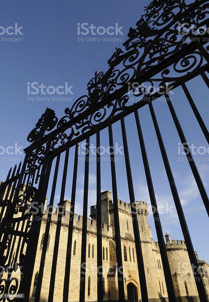 Castle and Gate, Cirencester stock photo