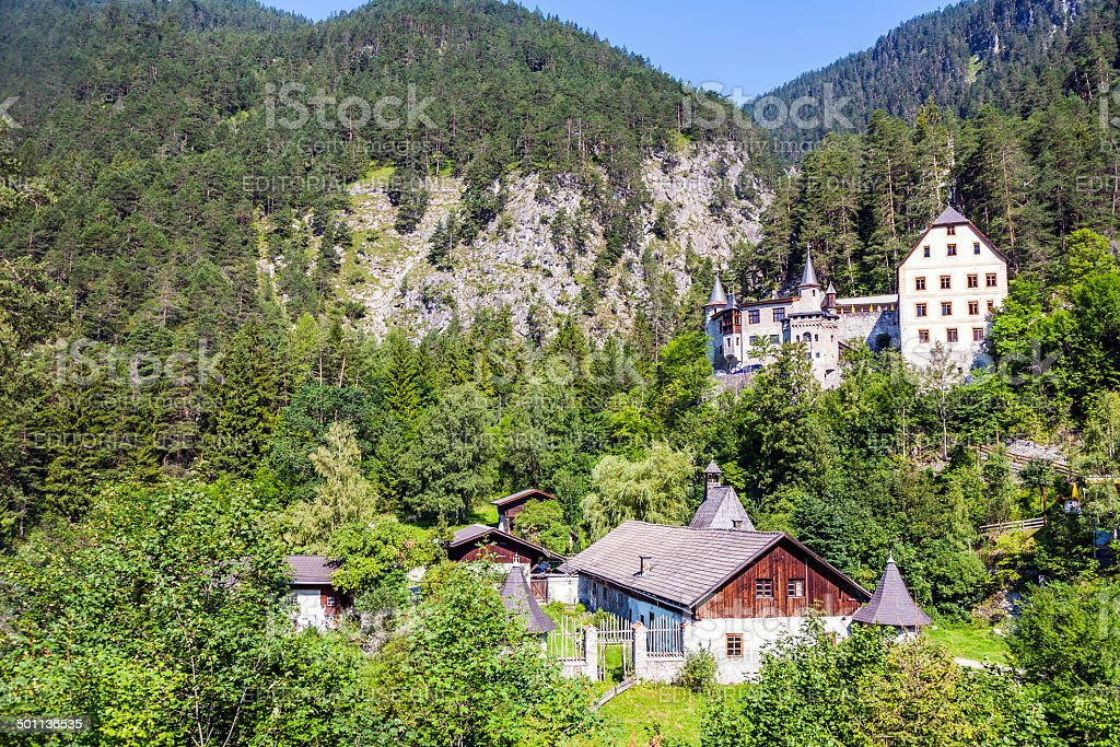 Castle and hotel Fernsteinsee in Tirol, Austria royalty-free stock photo