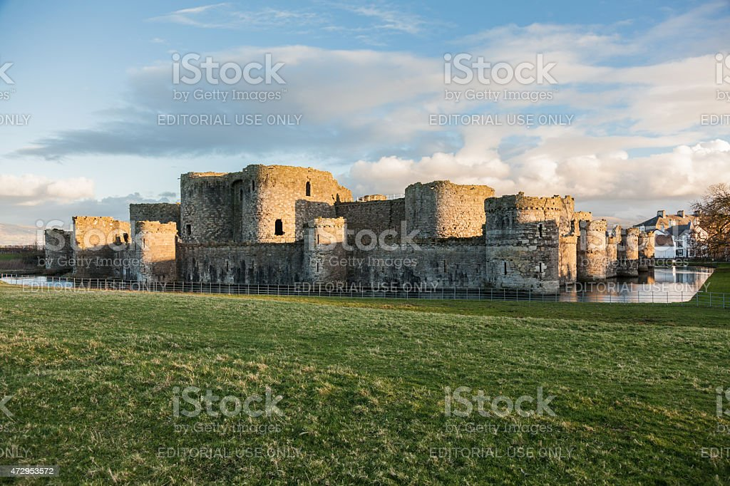 Castle and moat, stock photo