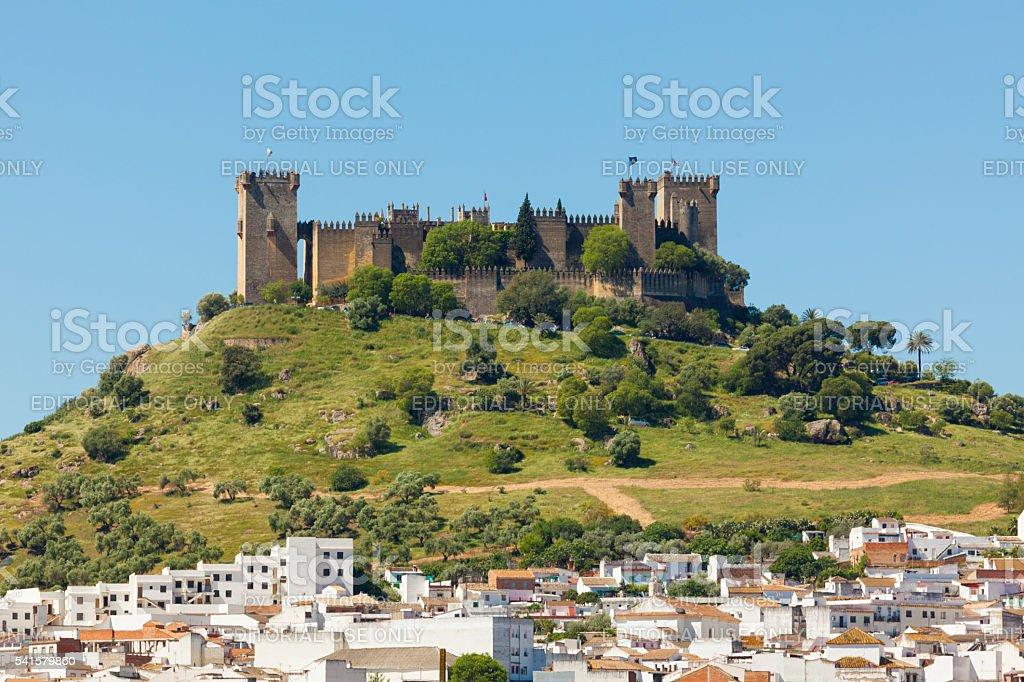 Castle and village at Almodovar del Rio, Spain stock photo