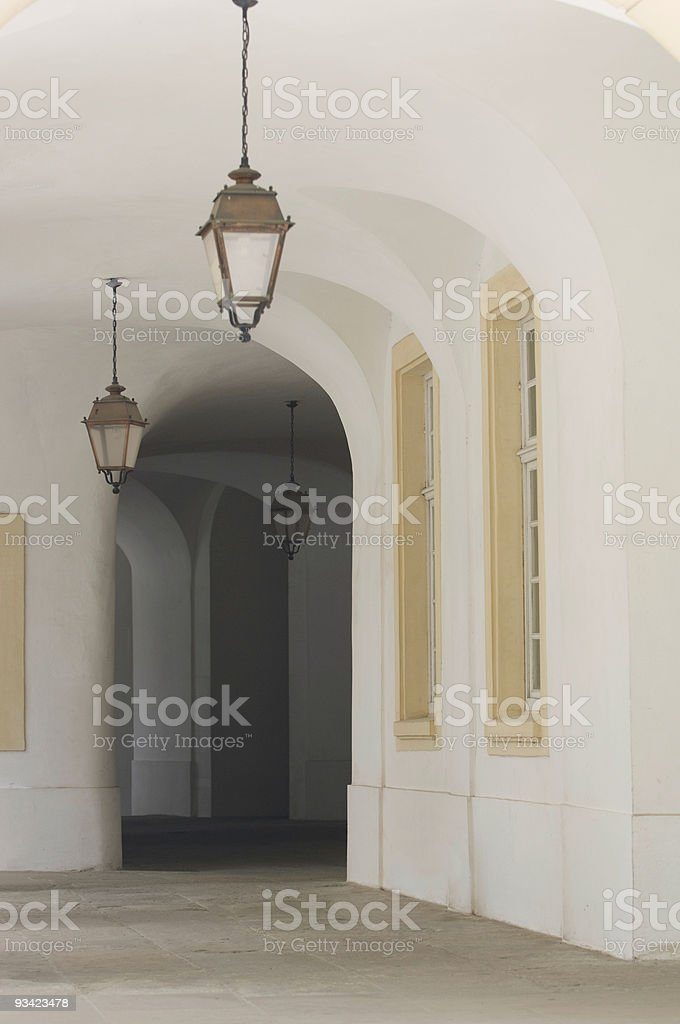 Castle Arcades II royalty-free stock photo
