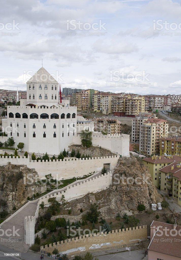 Castle at Ankara Turkey royalty-free stock photo