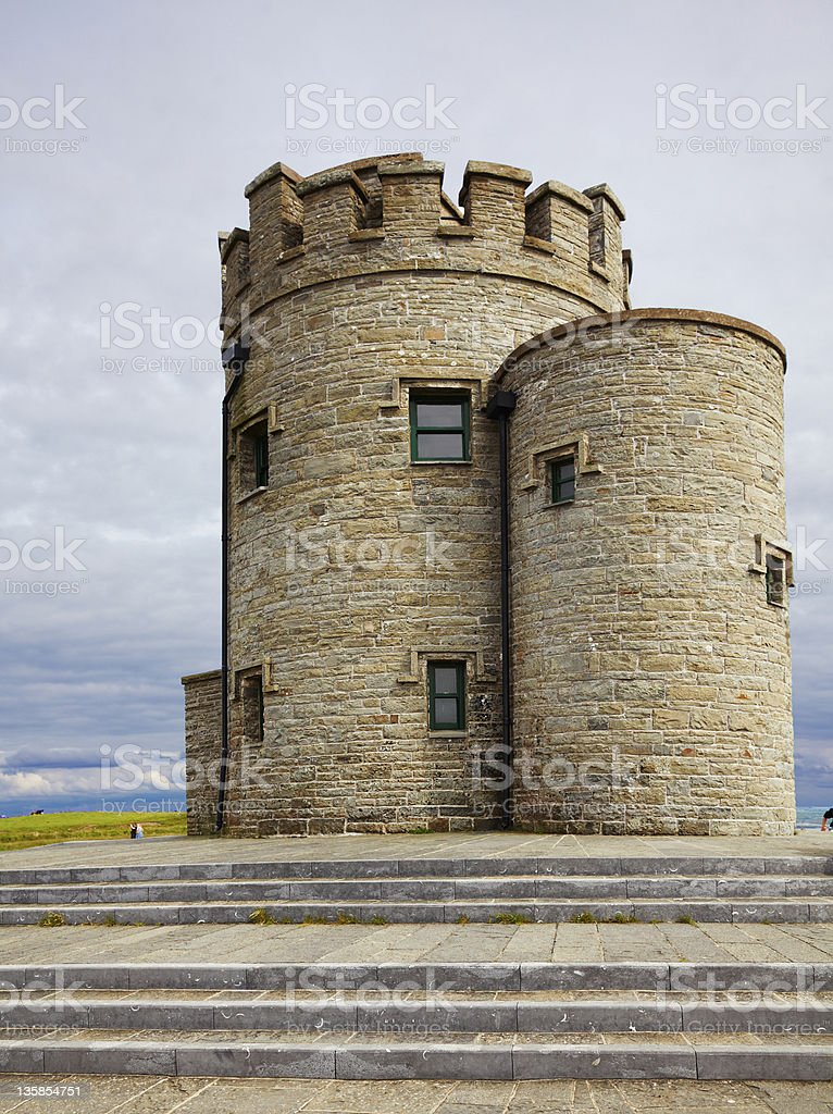 Castle at Cliffs of Moher royalty-free stock photo
