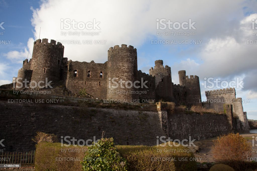 Castle at Conwy. stock photo