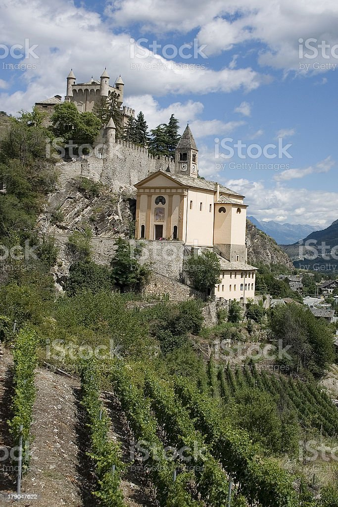 Castle at Saint Pierre (Aosta Valley, Italy) royalty-free stock photo