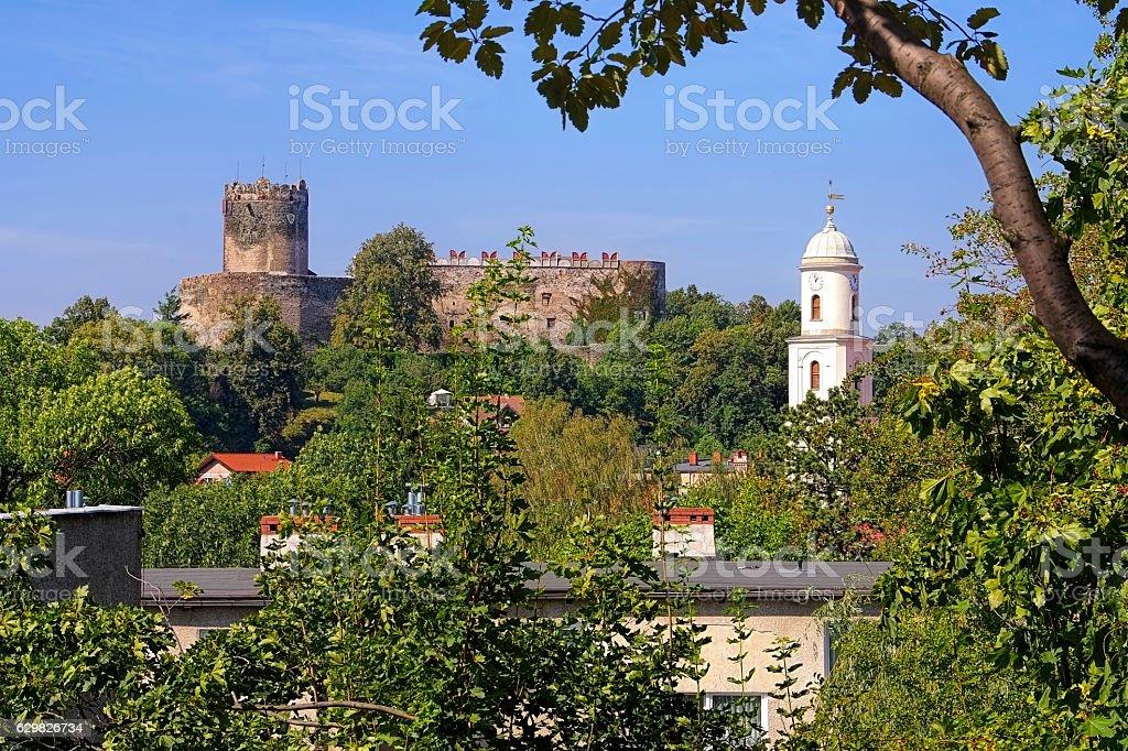 castle Bolkow in Silesia stock photo