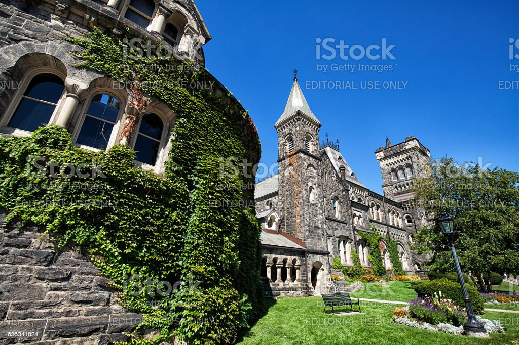 Castle buildings at University of Toronto stock photo