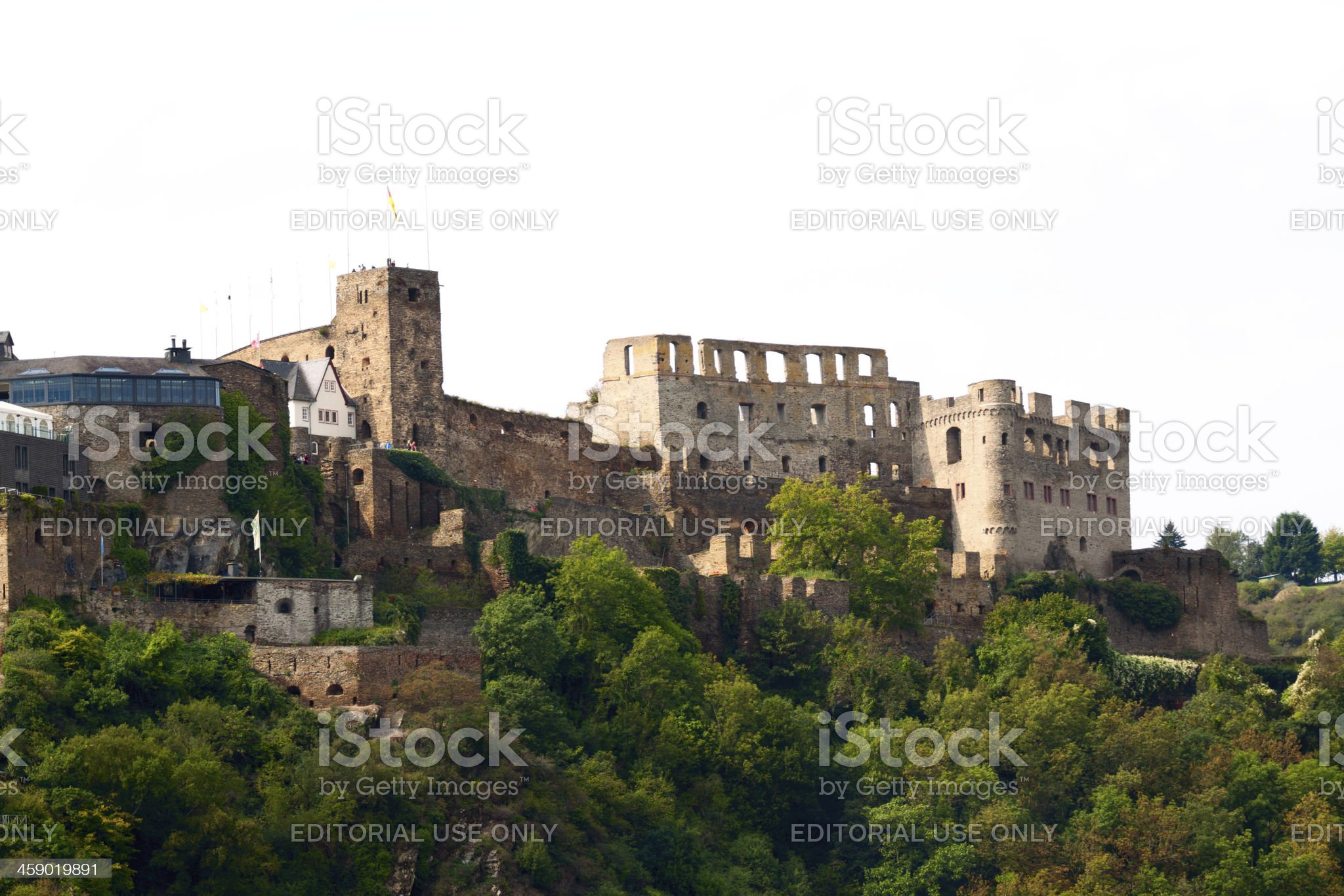 Castle Burg Rheinfels royalty-free stock photo