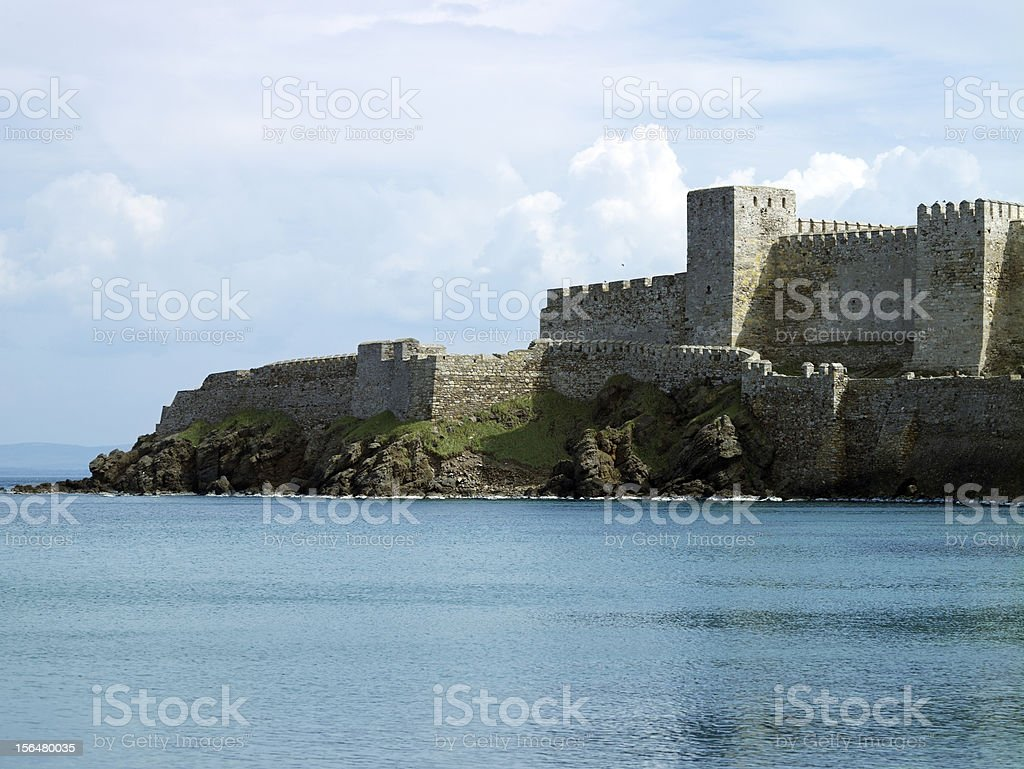 Castle by the sea stock photo