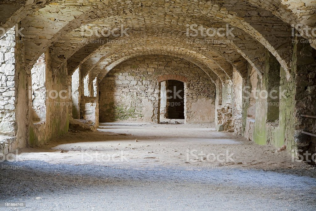 Castle cellar royalty-free stock photo