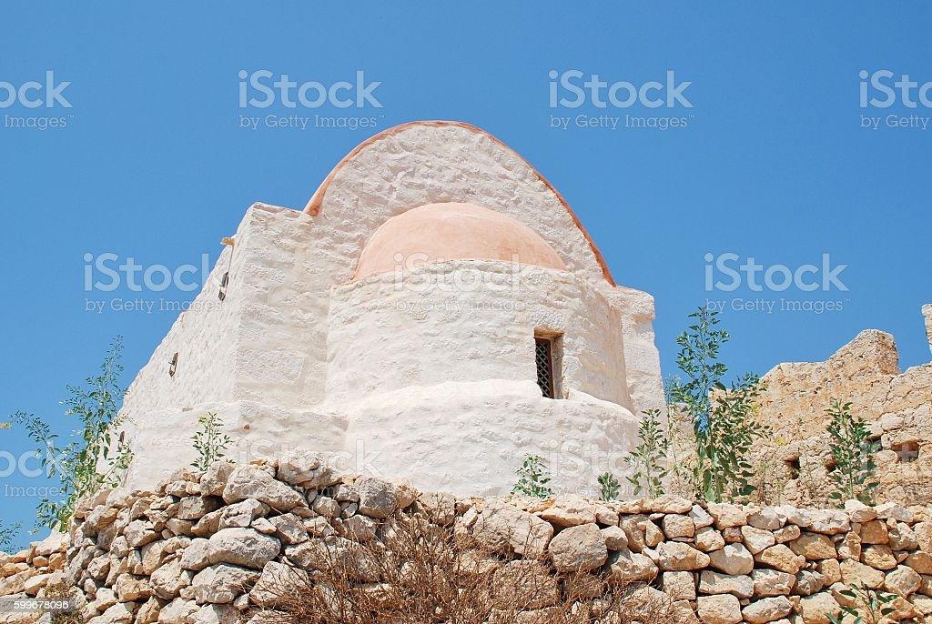 Castle chapel, Halki stock photo