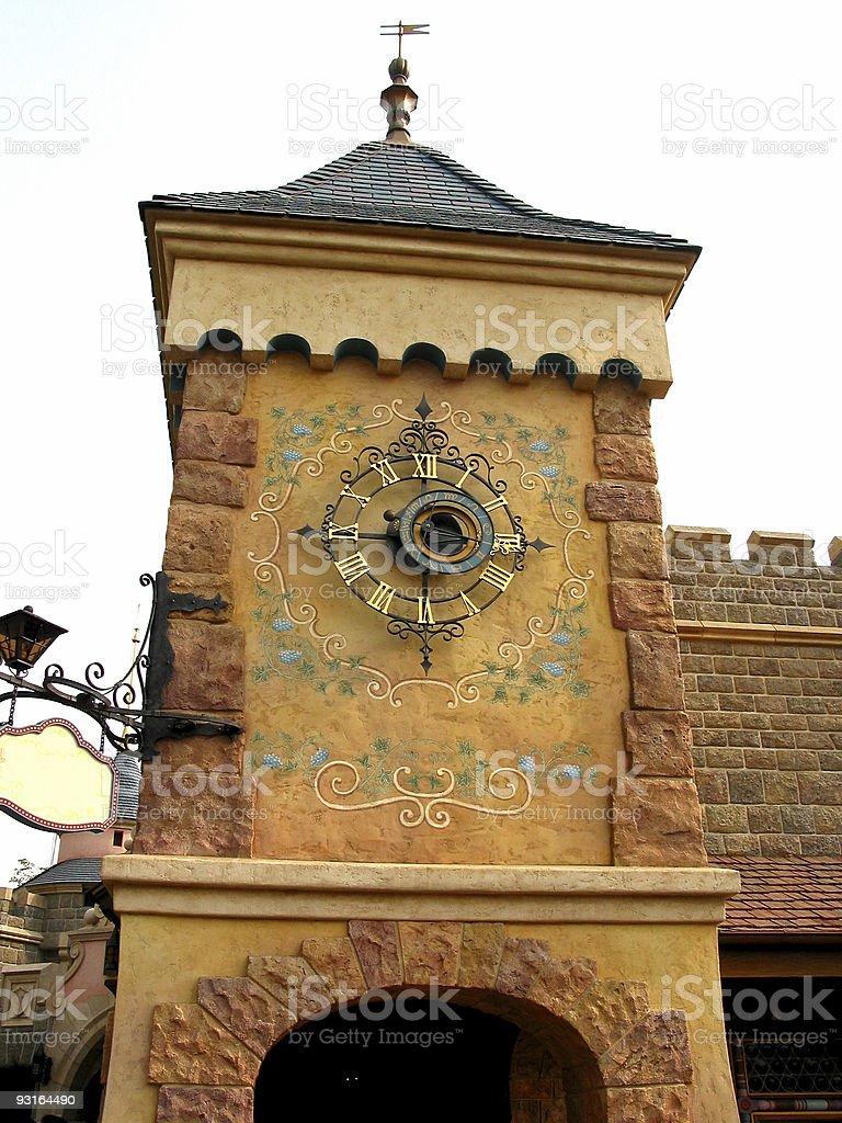 castle Uhr Lizenzfreies stock-foto