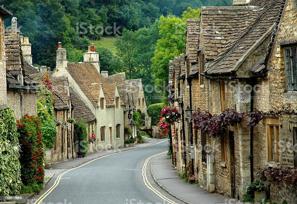 Castle Combe stock photo