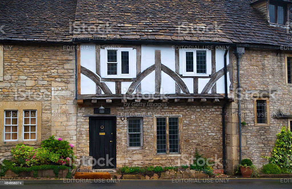 UK, Castle Combe three hundred years old english house stock photo