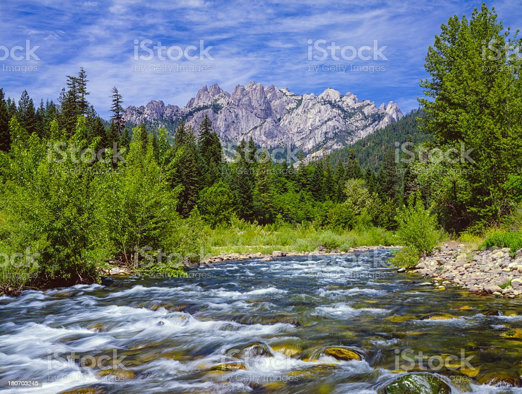 Castle Crags State Park, California royalty-free stock photo