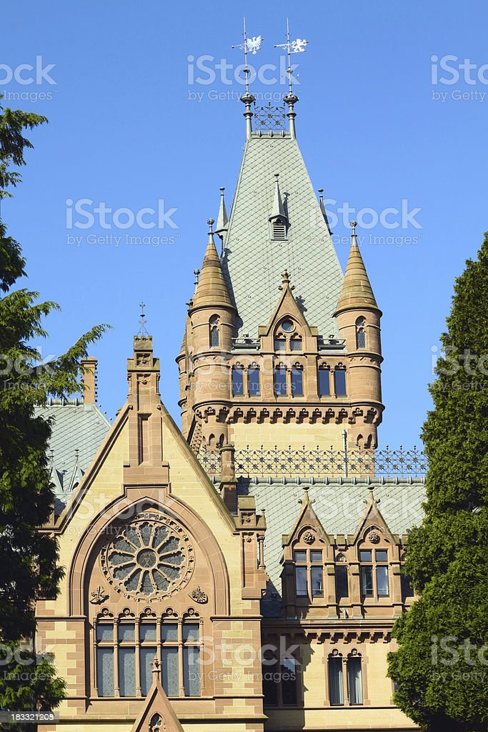 Castle Drachenburg stock photo