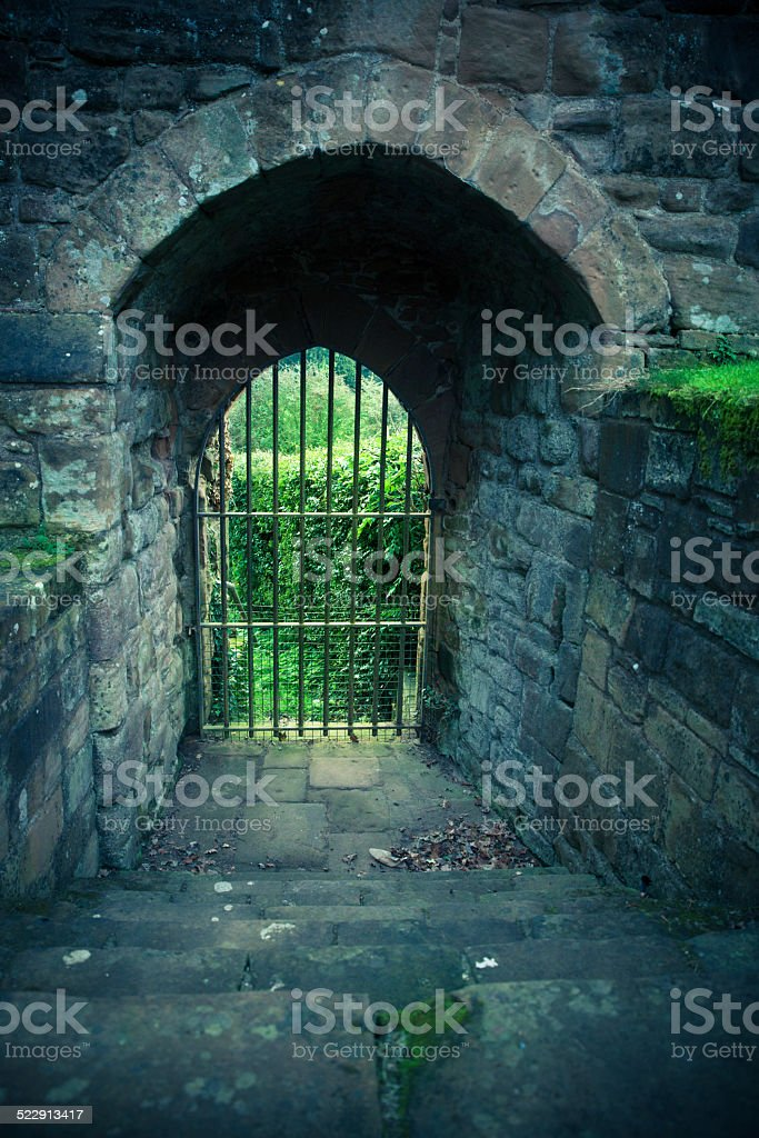 Castle Entrance stock photo