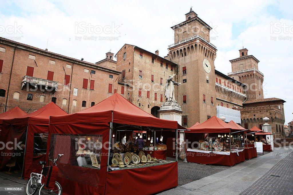 Castle Estense stock photo