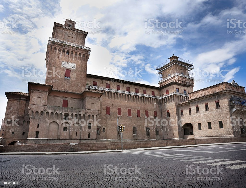 Castle Estense royalty-free stock photo