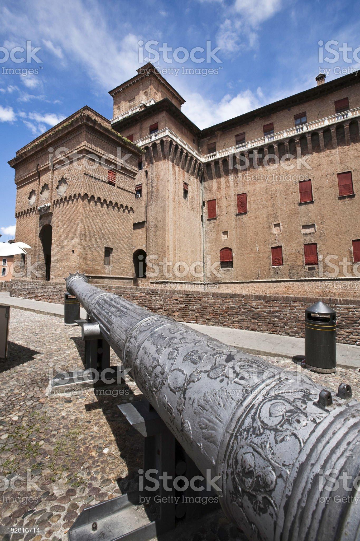Castle Estense royalty-free stock photo