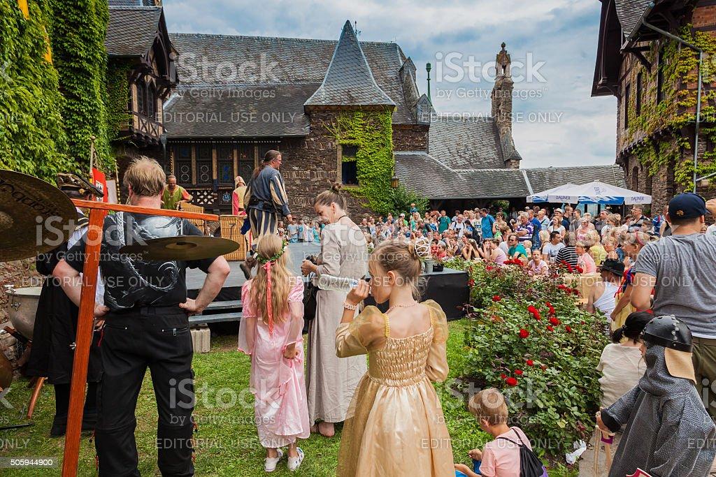 Castle Festival at the castle Cochem stock photo